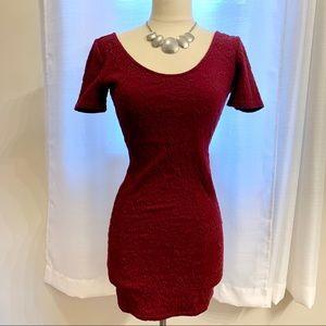 Cranberry bodycon dress